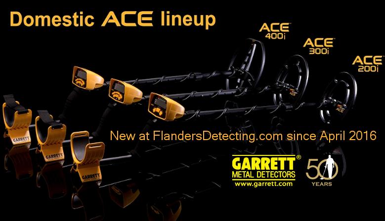 Nieuwe Garrett metaaldetectors ACE 200i - ACE 300i - ACE 400i